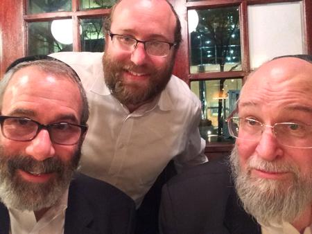 Gil Bashe, Yossi Katz and Chaim Kramer